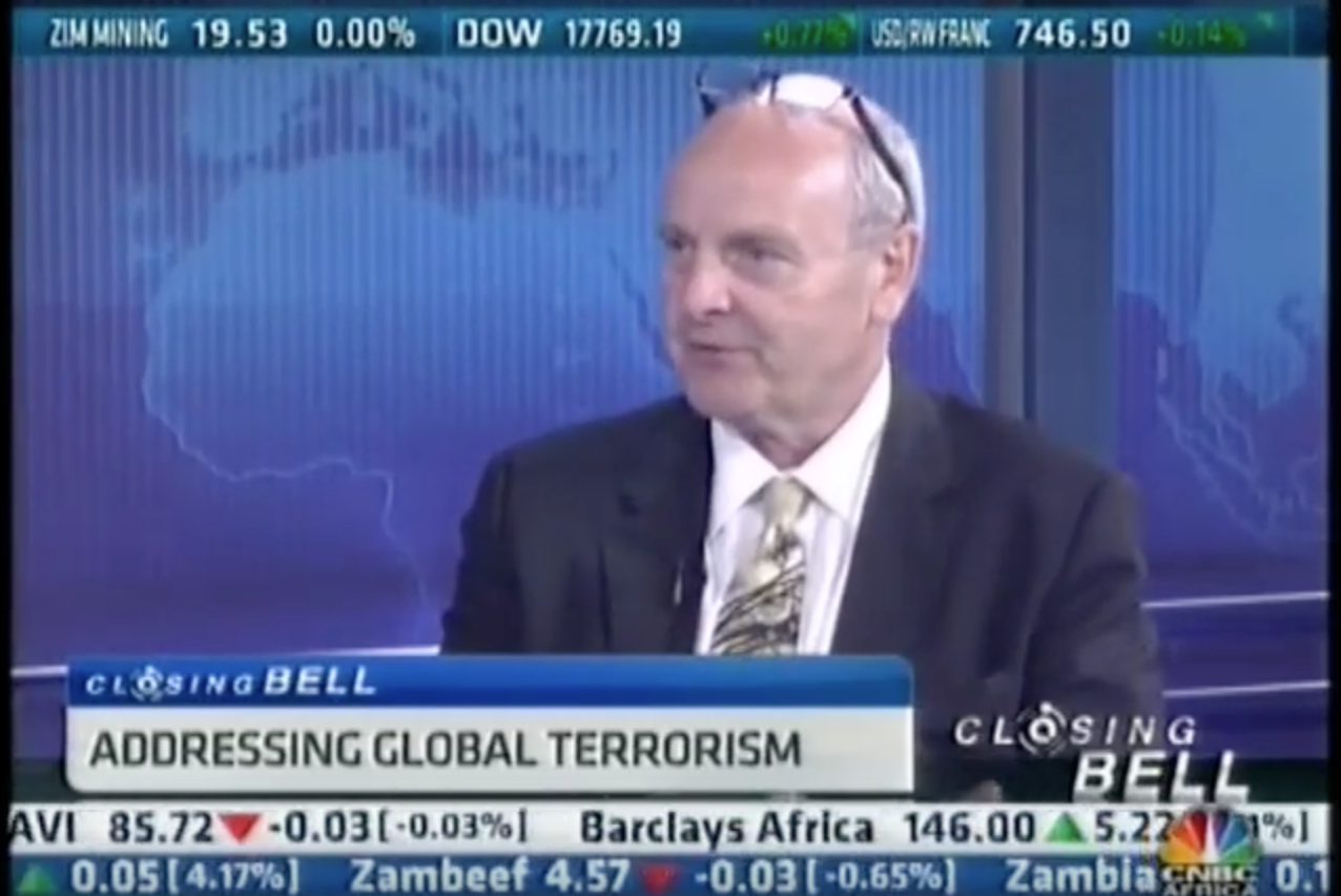 Paul O'Sullivan on Terrorism, as interviewed by CNBC Africa