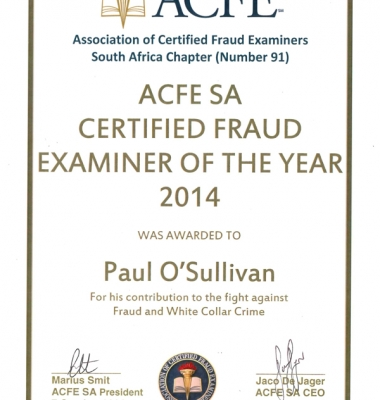 ACFE Fraud Examiner of the Year 2014